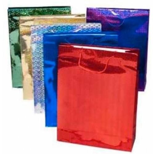 Holographic Gift Bags 17.5  x  22.5 x 10.5  Assorted Colours