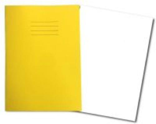 Exercise Books A4+ 320mm x 240mm 80 Pages Plain Yellow