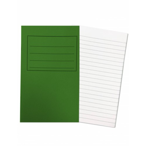 Note Books 6.25 x 4 40 Pages 7mm Feint Ruled Green