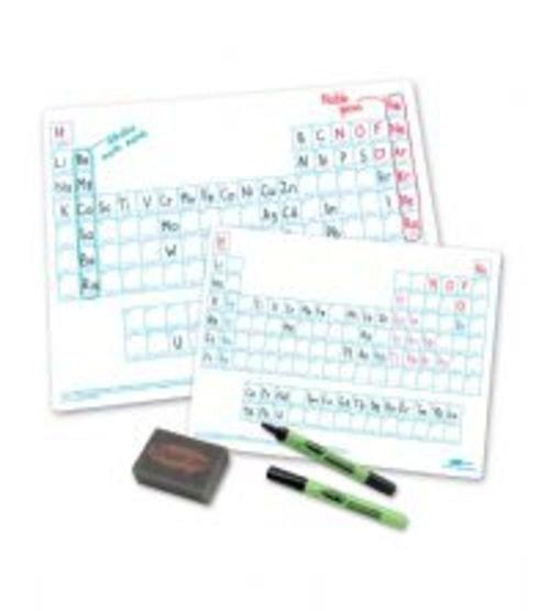 Show Me Drywipe Boards A4 Periodic Tables Classpack Of 35