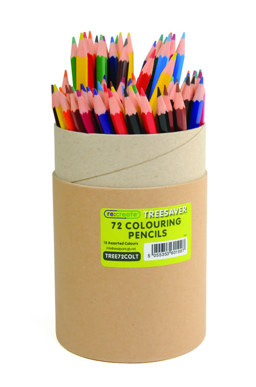 Recreate Recycled Colouring Pencils Assorted Tub