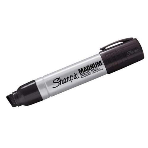 Sharpie Pro Magnum Chisel Tip 14.8mm Permanent Markers Black