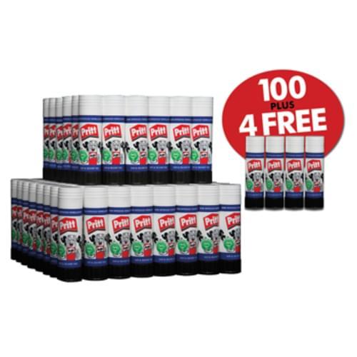 Pritt Sticks Large 43gsm Bulk Box Complete With 4 Glue Sticks F.O.C