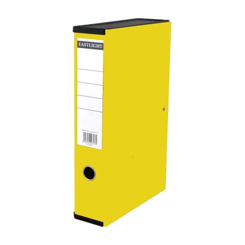 Linen Box Files Foolscap Yellow