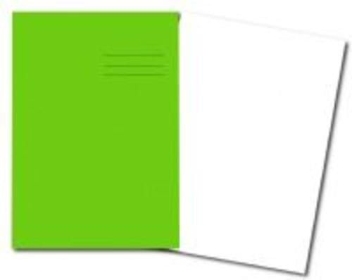 Exercise Books A4+ 320mm x 240mm 48 Pages Plain Light Green