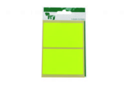 Ivy Self Adhesive Lable 50mm x 80mm Yellow Pack 8