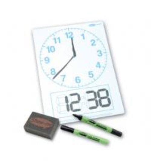 Show Me Drywipe Board Clockface Pack Of 10