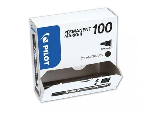 Pilot Permanent Markers Bullet Tip Black 20 For The Price Of 15