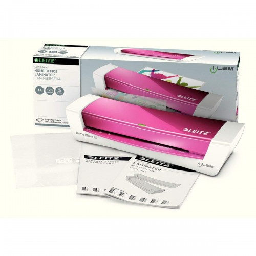 Leitz Ilam Home Office Laminator A4 Pink