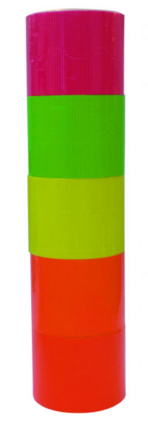 Corrugated Fluorescent Border Rolls Assorted Pack 5
