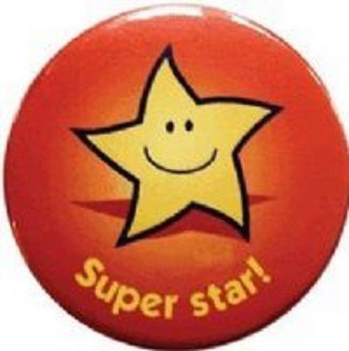 Reward Badges 38mm Diameter Super Star Pack 20s