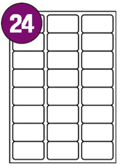 Inkjet  Laser Labels A4 24 Labels Per Sheet Box 100s