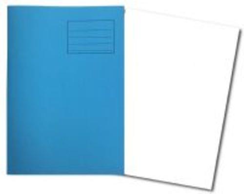 Exercise Books A4+ 320mm x 240mm 80 Pages Plain Light Blue