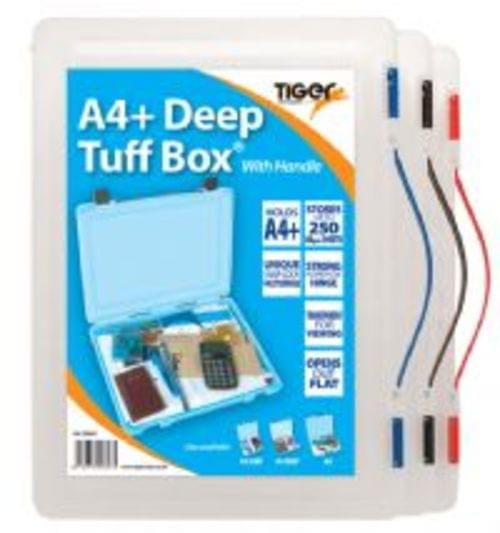 Tiger Staionerys A4+ Deep Tuff Box With Handle