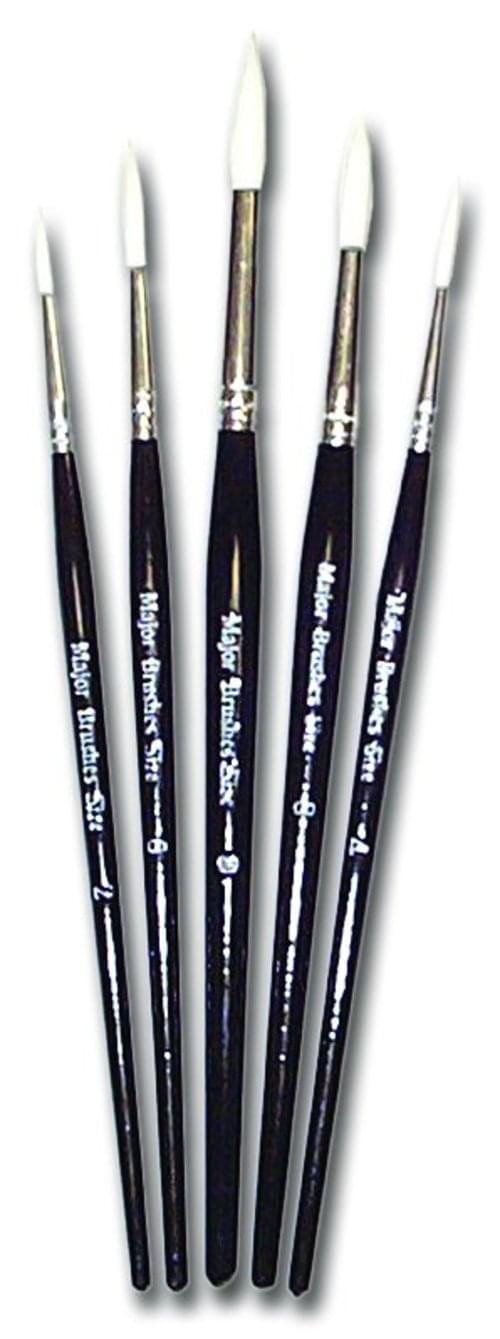 Economy Synthetic Sable Brushes Round Size 4 53404