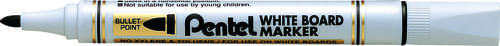 Pentel Everyday WhiteBOARD Markers Bullet Tip Black