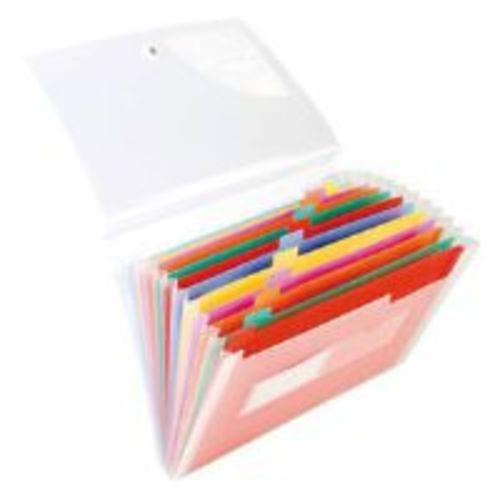 Tiger Stationery 13 Part Expanding File Coloured Tabs