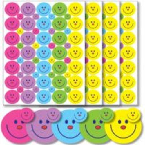 A5 Smiley Face Stickers 24mm  10mm Asssorted Pack 236 55922