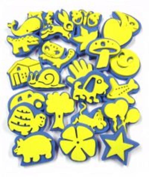 Foam Stamps Set Of 24 Assorted Designs