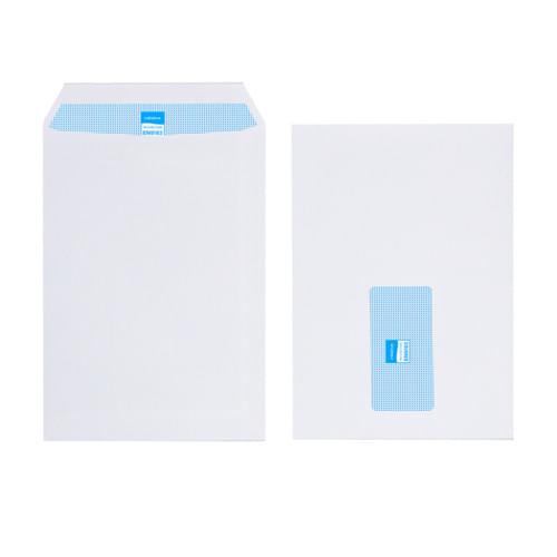 Initiative White Envelopes C5 229mm x 162mm Self Seal Window 100gsm Box 500s