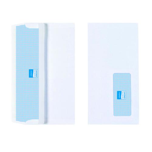 Initiative White Envelopes DL 110mm x 220mm Self Seal Window 90gsm Box 1000s