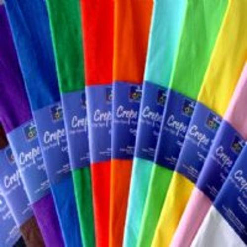 Crepe Paper 50cm x 300cm Assorted Colours Pack 25