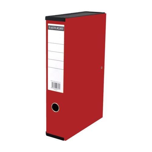 Linen Box Files Foolscap Red