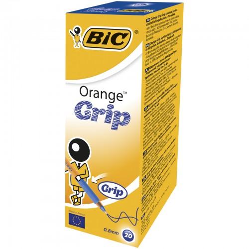 Bic Orange Grip Ballpen Fine Point Blue