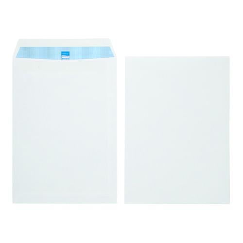 Initiative White Envelopes C4 324mm x 229mm Self Seal Plain 100gsm Box 250s
