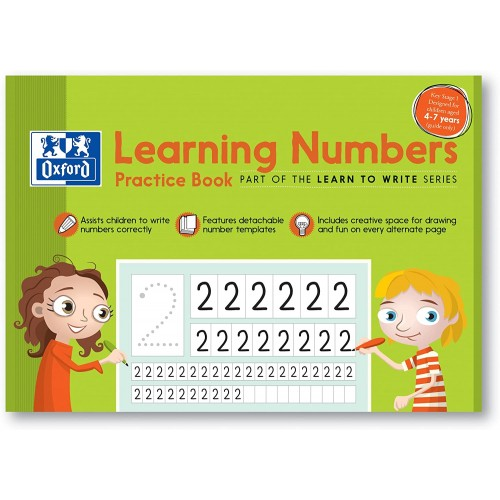 Oxford Exercise Book Learning Numbers Practice Book