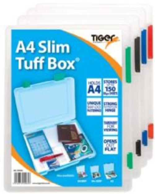 Tiger Stationerys A4 Slim Tuff Box