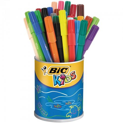 Bic Kids Visa Felt Tip Pens Assorted Pot 36s