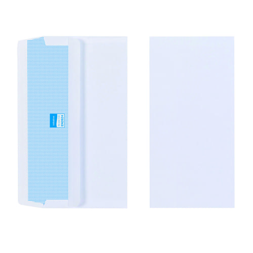 Initiative White Envelopes DL 110mm x 220mm Self Seal Plain 80gsm Box 1000s