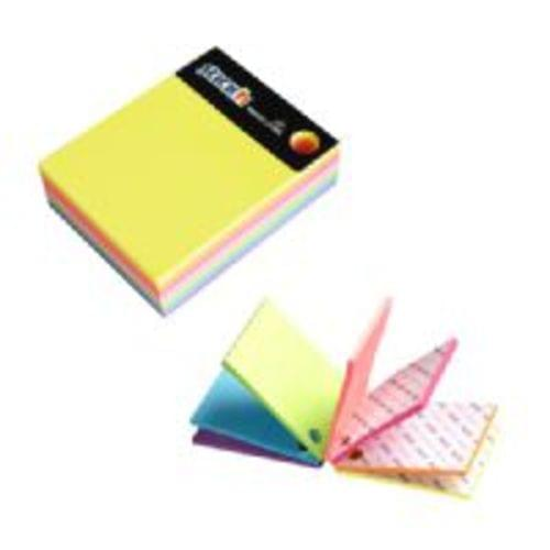 Stick n Magic Cube 101mm x 76mm 280 Sheets Assorted Colours