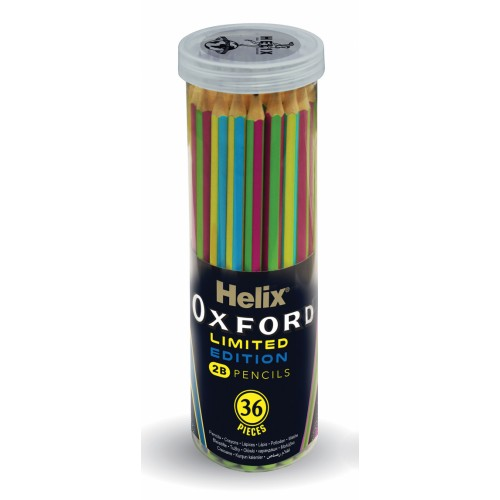 Helix Oxford Clash 2B Pencils Assorted Barrell Colours