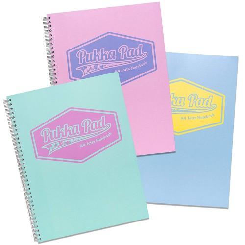 Pukka Jotta Wirobound A4+ Notebooks Assorted Pastel Colours