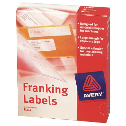 Avery Franking Labels FL04 1 Label Per Sheet Pack 1000s