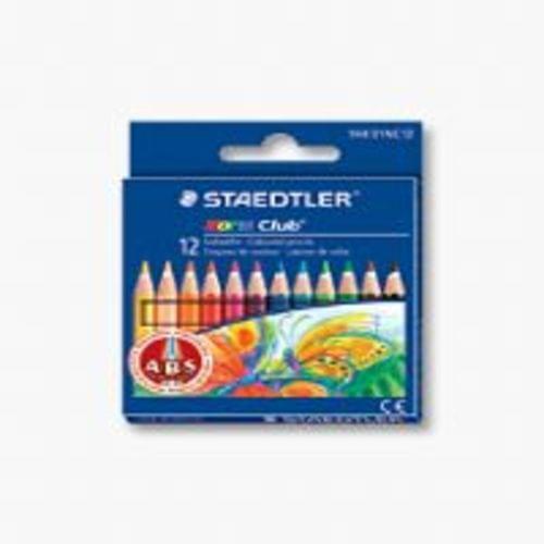 Staedtler Half Length Pencils 9cm Assorted 12s