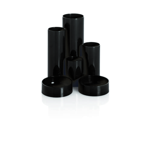 Desk Tidy 6 Tube Black