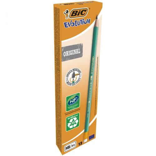 Bic Evolution Ecolution Graphite Pencils With Eraser