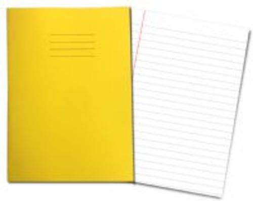 Exercise Books A4+ 320mm x 240mm 80 Pages 12mm Feint & Margin Yellow