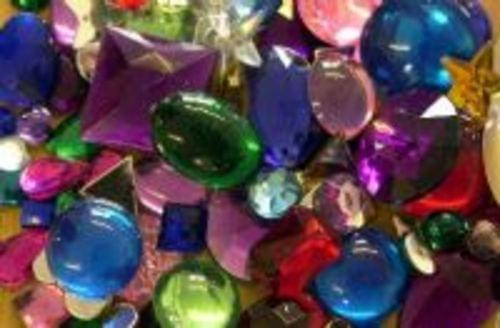 Acrylic Jewels Assorted 70gsm