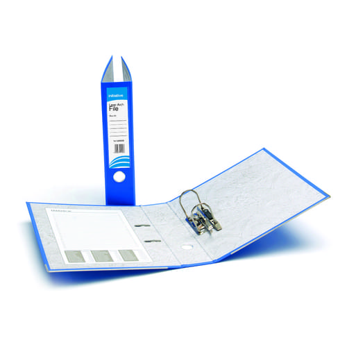 Initiative A4 Lever Arch Files - Blue