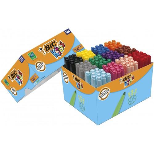 Bic Kids Visa Broad XL Pens Assorted Pack 144s