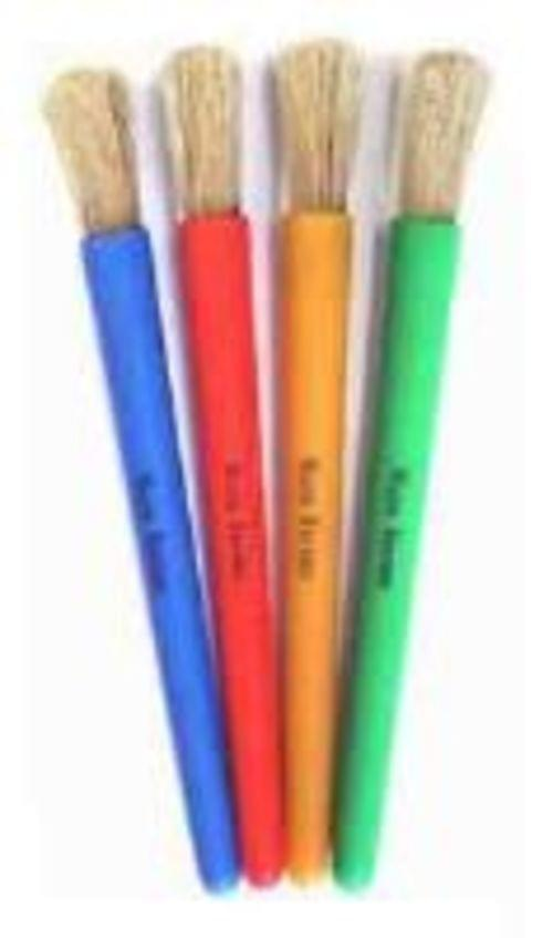 Junior Chubby Brushes Assorted Colours Pack 4s 6002-4C