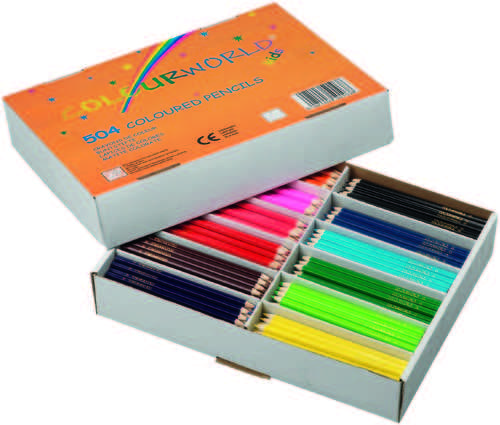 Colourworld Colouring Pencils Classpack Assorted 504s