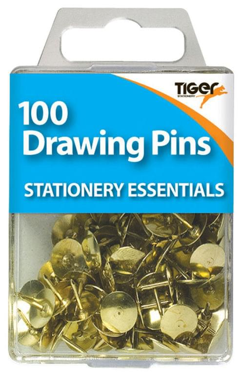 Brass Drawing Pins Boxed 10 x 100s