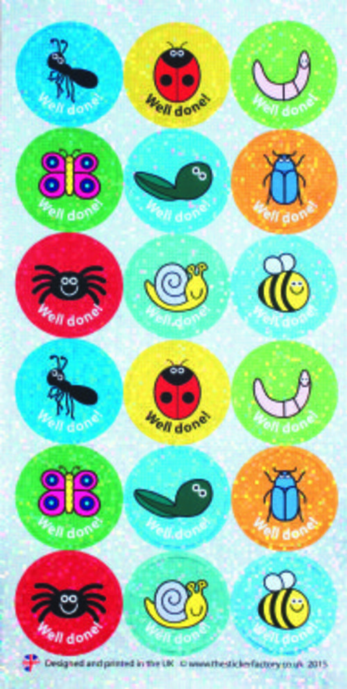 Mini Beasts Well Done Stickers