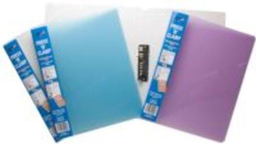 Tiger Stationery Clamp Binders A4 Assorted Colours