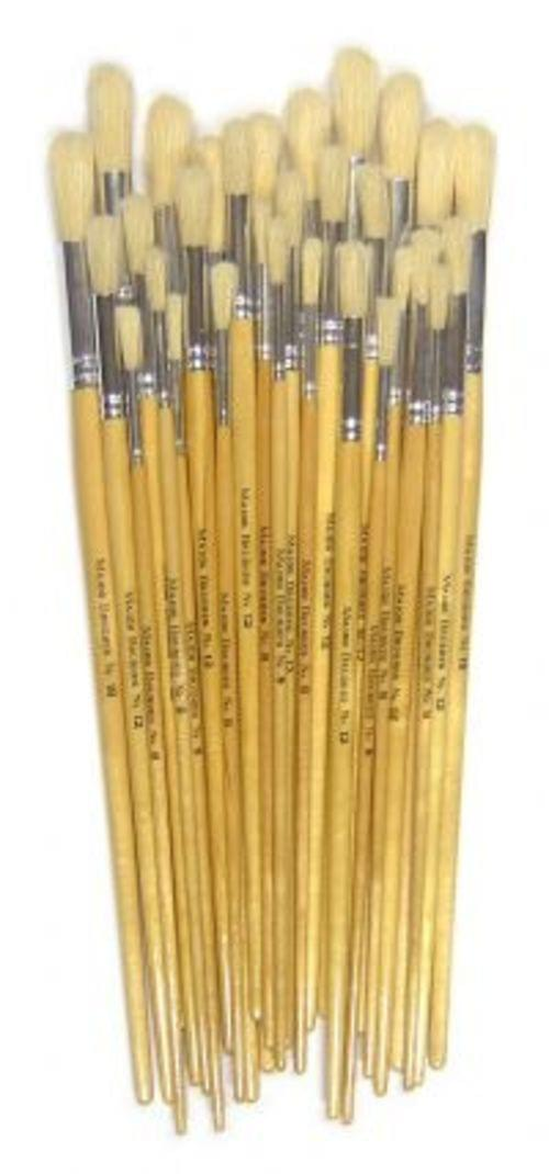 Powder Colour Brushes Long Handles Assorted Pack 30s